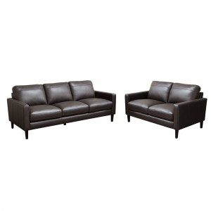 DS Sofa and Loveseat Omega $2400 in dark choco