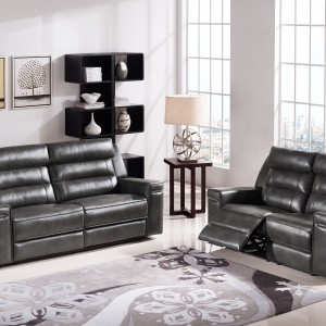 DS Sofa and Loveseat Set Duncan $1700 in slate grey