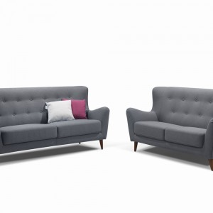 DS Sofa and Loveseat Set Jasper $1500 in grey