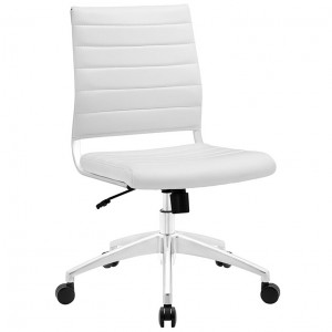 MY Office Chair 000221525 Armless Mid Back $229 in white