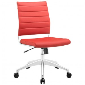 MY Office Chair 00221525 Armless Mid Back $229 in red