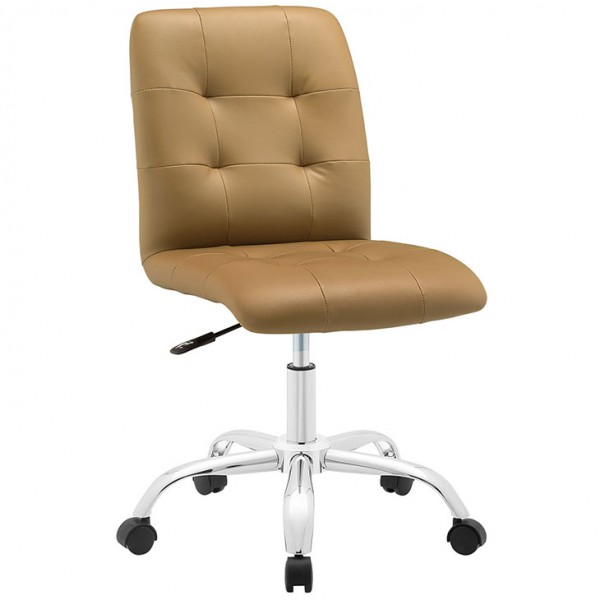 MY Office Chair 00221533 Armless Mid Back $149 in tan