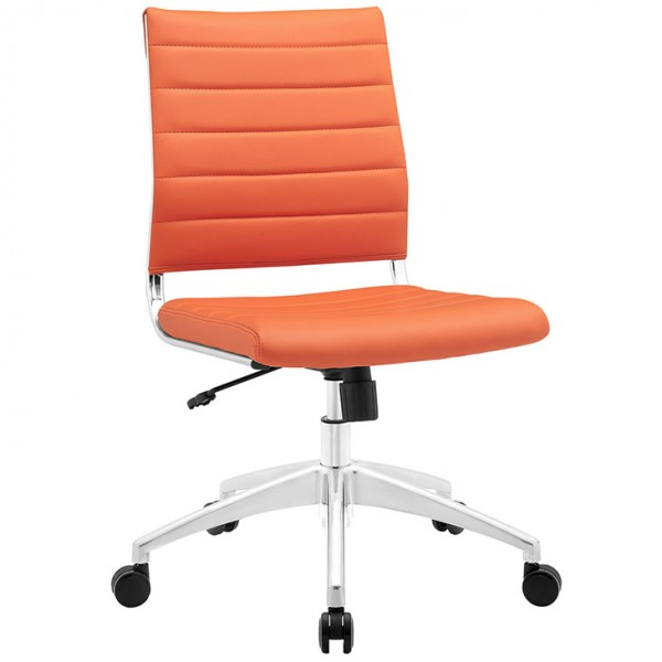 MY Office Chair 0221525 Armless Mid Back $229 in orange