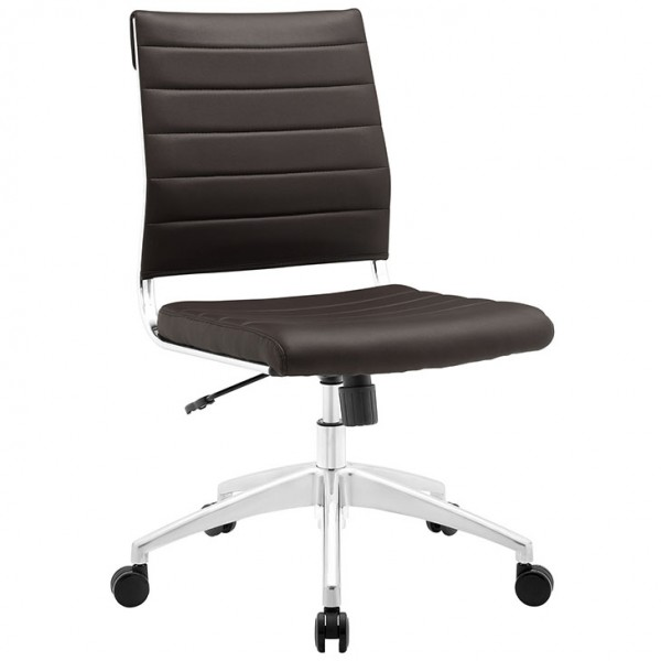 MY Office Chair 221525 Armless Mid Back $229 in brown