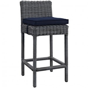 MY Outdoor Patio Bar Stool 0221960 $218 in canvas navy