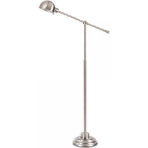 SY Floor Lamp colp22004 $158 in silver shade and brushed steel base finish