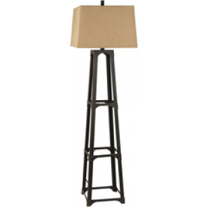 SY Floor Lamp lmp221002 $578 in tan shade and bronze finish