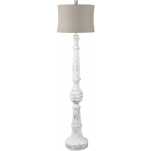 SY Floor Lamp lmp221035 $498 in taupe shade and distressed base finish