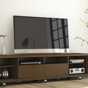 Cabrini 2.2 TV Stand Nut Brown